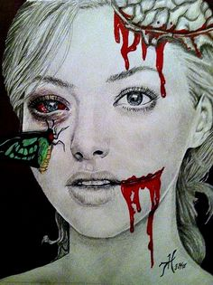 amanda zombie drawing Zombie Drawings, Art Drawings, Zombie Face, Psychobilly, Sci Fi Art, Horror Art, Pastel Goth, Artsy Fartsy, Female Art