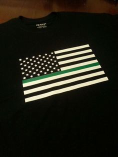 Thin Green Line Flag T Shirt - Law Enforcement Support - Sheriff Deputy - Border Patrol - American Flag with Thin Green Line - Police Shirt by GeoDreams on Etsy Thin Green Line, Thin Line, Support Law Enforcement, Police Shirts, Sheriff, American Flag, Scouting, Trending Outfits