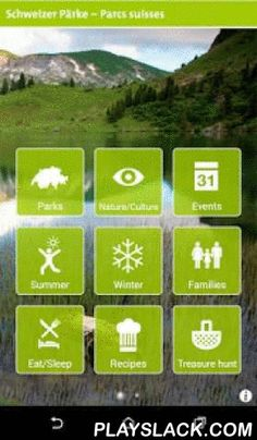 "Swiss Parks  Android App - playslack.com ,  In the ""Swiss Parks"" App, you will find the best hiking trails, biking and e-bike routes as well as many ideas for family outings and even a treasure hunt. The app also gives numerous ideas for winter, such as snowshoe trails, winter hikes, sledge runs or ice rinks. On top of that, users will enjoy an overview of the Swiss parks, their natural and cultural highlights as well as 60 original cooking recipes with various local and regional…"