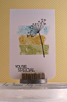 """use washi tape as a """"stamp""""!  by Sue Givens"""
