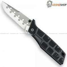 """FOX FKMD N.E.R.O. NIGHTHAWK Tactical Folder Knife FX-117CT, folding military tactical knives with blade on the top of Grade 5 Titanium and of N690Co Cobalt Vanadium stainless steel of high quality with Bead Blast finishing - HRC 58/60 on the cutting edge - HRC 48 on the Titanium upper side - The combination of the two materials ensures high performance of cutting, flexibility and greater resistance to corrosion - Blade lenght 3.7"""" - Thickness 0.20"""" - Handle made with two steel liners and…"""