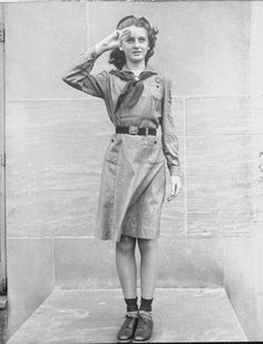 1940s, girl scout