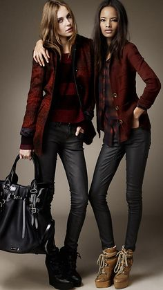 On ze right... Yep yep. Burberry Brit Autumn/Winter 2012 Wool Silk Check Jacquard Blazer