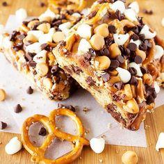 Chocolate Caramel Pretzel Bars | Food Recipes
