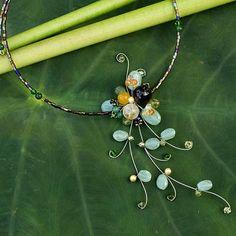Aventurine Beaded Necklace - Beautiful Floristry | NOVICA