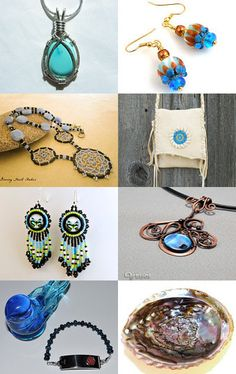 Tangled Up in Blue featuring SilverAndStoneWorks by Julie Burkett on Etsy--Pinned with TreasuryPin.com