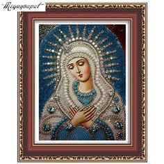 5d diy diamond embroidery Religious Our Lady and baby diamond painting Jesus mosaic beadwork pictures Rhinestones cross stitch #clothing,#shoes,#jewelry,#women,#men,#hats,#watches,#belts,#fashion,#style