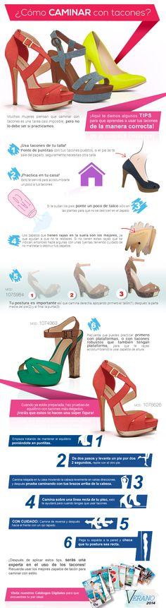 Caminar en tacones ¡es muy sencillo! sigue nuestros #tips
