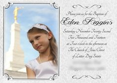 Like Mom and Apple Pie- FREE LDS Baptism Announcement | photo ideas | Free LDS Baptism program template| Free Printables