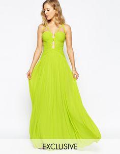 Image 1 - Forever Unique - Maxi robe drapée style grec à découpes