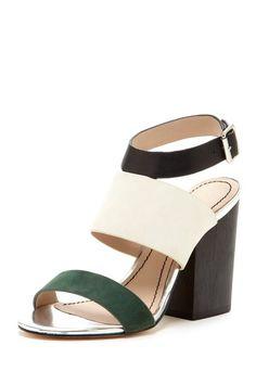 Clair Wooden Heel Sandal