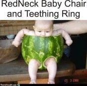 Redneck Baby Chair and Teething Ring.