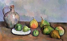Still life pitcher and fruit Paul Cezanne art for sale at Toperfect gallery. Buy the Still life pitcher and fruit Paul Cezanne oil painting in Factory Price. Cezanne Art, Paul Cezanne Paintings, Oil Paintings, Cezanne Still Life, Still Life Artists, Still Life Fruit, Fruit Painting, Painting Still Life, Oil Painting Reproductions