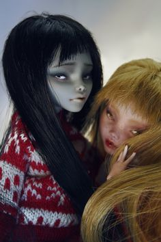 Sophie and Ruby - Monster High dolls OOAK repaint by AlicjaOcchivetro