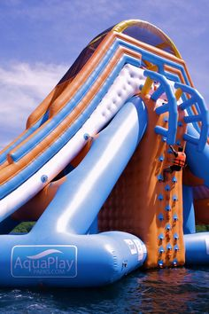 Floating water park and Inflatable Water Park Designer! We build a True Inflatable Water Slide! Give us your Custom Inflatable water park plan. Giant Pool Floats, Cool Pool Floats, Water Floaties, Playgrounds For Sale, Inflatable Water Park, Bouncy House, Below Deck, Kids Play Area, Floating In Water