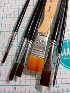 Pinceles como nuevos #scrapbooking #tips Scrap, Tools, Instruments