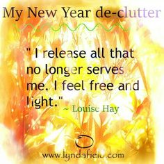 My New Year declutter affirmation