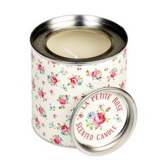Rose Scented Candle in a La Petite Rose Tin