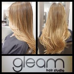 A good Balayage Ombre looks like the sun did this ! Here, Light blonde highlights on a dark blonde natural base. @gleamhairstudio Miami.