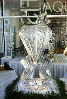 Diamond Martini Luge Ice Sculpture