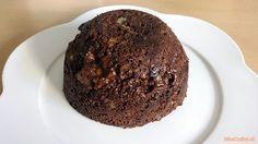 Recept voor een healthy chocolate mug cake. Een cake die je in een kom maakt en vervolgens in de magnetron zet. Een lekker en snel onbijt.