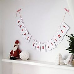 Happy Christmas Bunting | The Little White Company