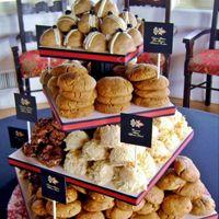 Gourmet stuffed cookie tower.