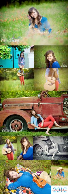 Country, cool, eclectic senior portraits...