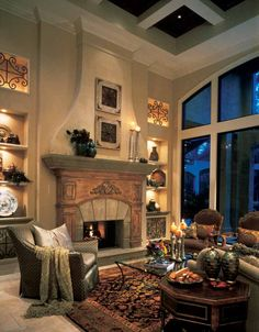 It's all about the lighting in this Cozy Family Room