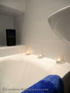 Bathtub Furnished Apartments, Holiday Lettings, Romantic Getaway, Bloomsbury, Cosy, Bathtub, London, Bathroom, Standing Bath