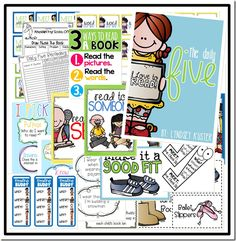 51 page free download with posters includes good fit books with pictures of shoes to match activity (for good fit intro)
