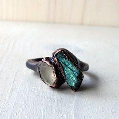 midwest alchemy -- labradorite -- moonstone -- jewelry -- ring