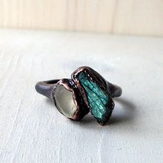 midwest alchemy -- labradorite -- moonstone -- jewelry -- ring