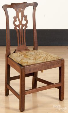 Side Chair, Mid 1700s, King George County, Virginia, Walnut And Beech,  Attributed To Robert Walker, Private Collection.