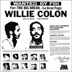 Willie Colon and Hector Lavoe: Salsa's Original Gangsters - La Gran Fuga Latin Music, My Music, Indie Music, Rock Music, Lps, Puerto Rican Music, Willie Colon, Musica Salsa, Salsa Music
