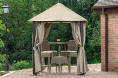 Furnish your outdoor spaces from our stylish array of patio furniture. Shop patio sets, lounge furniture, outdoor furniture pieces, accessories and Lounge Furniture, Garden Furniture, Outdoor Furniture, Outdoor Spaces, Gazebo, Patio Sets, Backyard, Outdoor Structures, Masters