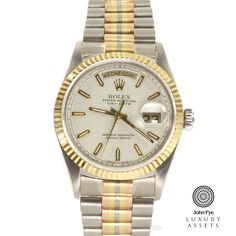 #Rolex Day-Date Tri Colour Gents Stainless Steel Automatic #Watch