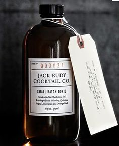small batch tonic / jack rudy cocktail co