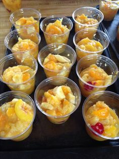 Homemade fruit cups -Pioneer Woman recipe. #fbdinnerclub