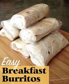 Make your own easy breakfast burritos