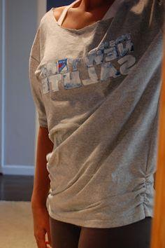 Ph.D., (Home) Economics: Pinterest Refashion From Trash To Couture: Men's XL T-Shirt to Women's Dolman Shirt