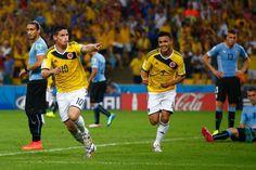 Gol de James Rodriguez vs Uruguay. 8° de final , Copa mundial de la fifa brasil 2014.