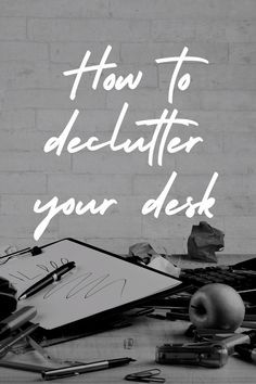 Desk clutter contributes to anxiety and confusion. It makes it difficult to find what you need quickly. In addition to this, a cluttered workspace will make your eyes (and brain) more tired, leading to less productivity. Many people struggle to keep their work space clutter free, but this article will help you clear, clean and declutter your desk for good, with easy step-by-step instructions. House Cleaning Tips, Spring Cleaning, Home Office, Office Desk, Productive Day, Desk Organization, Confusion, Step By Step Instructions, Declutter
