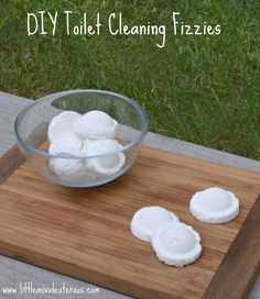 Cleaning a toilet is hard work! Drop in one or two of these DIY Toilet Cleaning Fizzies and walk away! Let the fizzies do the work! Easy peasy!