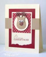 Rudolph, gemaakt met een uil pons.