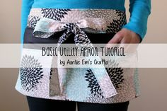 This basic utility apron tutorial is a great project for the beginner sewer. The apron is perfect for day care teachers, craft shows, yard sales, and more!