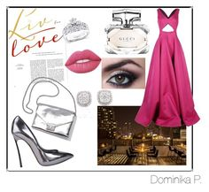 """""""Dream date"""" by dominikaplav ❤ liked on Polyvore featuring Michael Kors, Casadei, Kobelli, Loeffler Randall, Lime Crime and Gucci"""