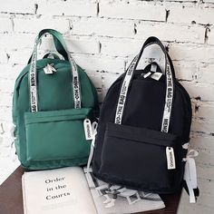 Large Capacity Backpack Women Preppy School Bags For Teenagers Female Nylon Travel Bags Girls Bowknot Backpack Mochilas Canvas Backpack, Backpack Purse, Fashion Backpack, Preppy Backpack, Preppy School Bag, School Bags, Preppy Mode, Preppy Style, Bags For Teens
