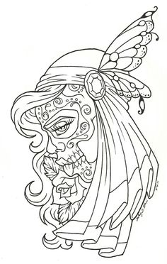 Day of the Dead children | Day of the dead coloring page - Coloring Pages & Pictures - IMAGIXS