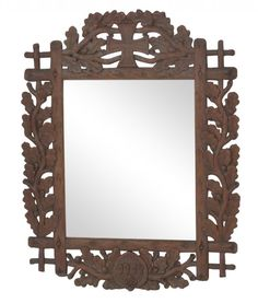 I just discovered this ANTIQUE BLACK FOREST CARVED FRAME MIRROR on LiveAuctioneers and wanted to share it with you: www.liveauctioneers.com/item/47936483